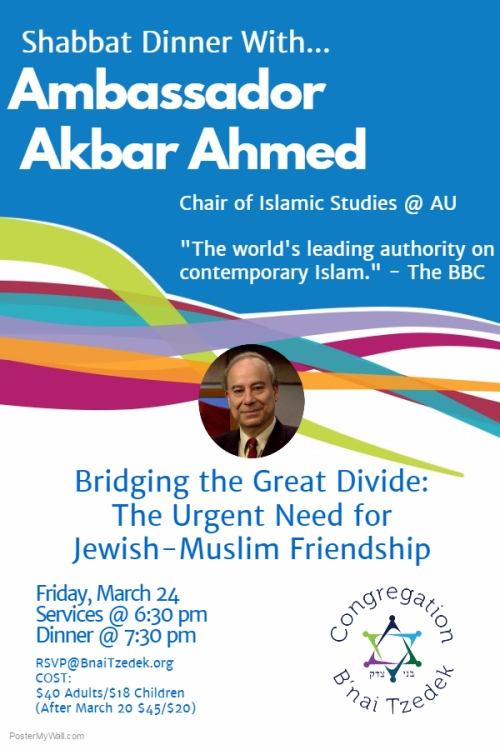 Shabbat Dinner With... Amb Ahmed